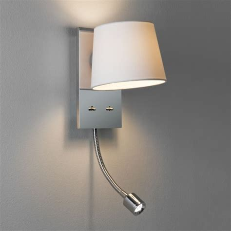 Bedroom Wall Lights For Reading Bedroom Wall Light Incorporating Led Arm Book Reading Light
