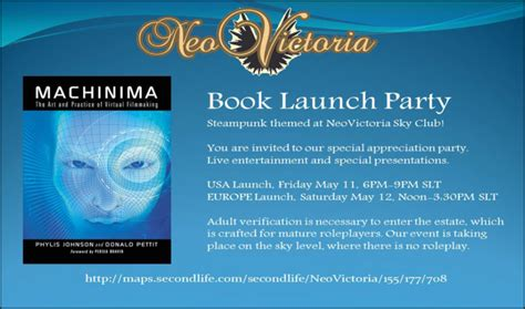 Book Release Invitation Letter Special Broadcasts On Friday Saturday Machinima Book Launch