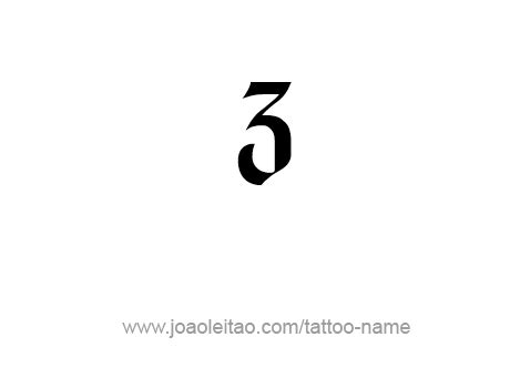 3 by 3 tattoo designs three 3 number designs page 3 of 4 tattoos with