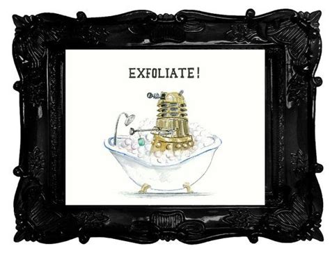 geeky bathroom decor doctor who dalek humour exfoliate bathroom decor geek