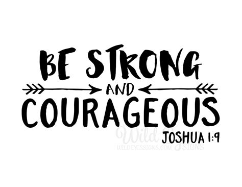 be strong and courageous joshua 1 9 navy christian be strong and courageous explorer nursery arrows tribal