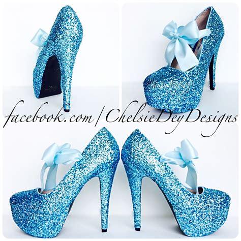 turquoise high heels for prom blue glitter high heels icy light aqua blue platform