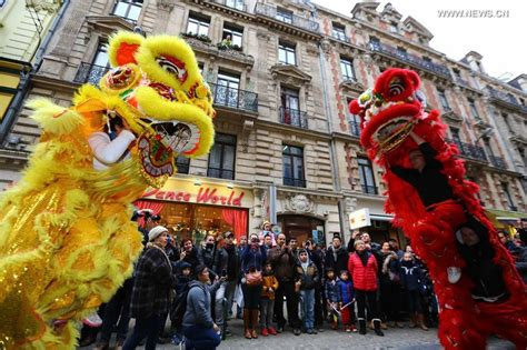 chinese new year parade held in brussels cctv news