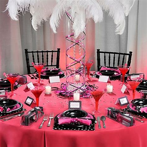 Pink And Black Party Decorations   Party Favors Ideas