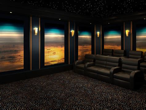 decorative acoustic panels   home theater  media room