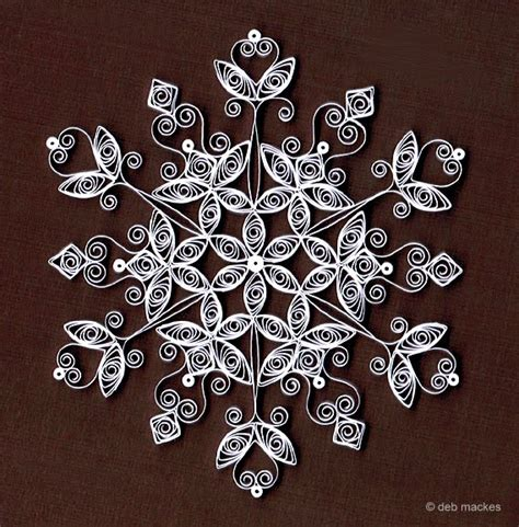 Snowflake Patterns Quilling | all things paper quilled snowflakes