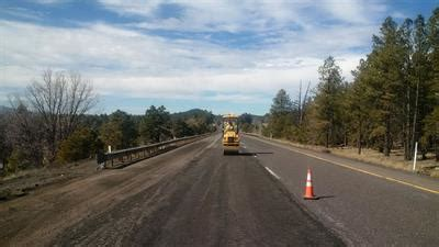 pavement repair continues on interstate 40 west of flagstaff