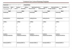 Lesson Plan Template Using Common Standards by Common Lesson Planning Template Classroom