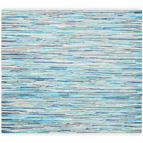 safavieh rag rug turquoise multi 6 ft x 6 ft square area