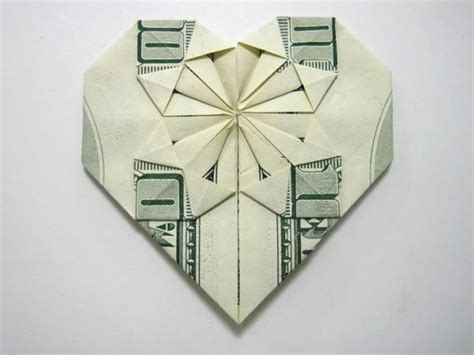 Money Origami Steps - decorative money origami tutorial and picture