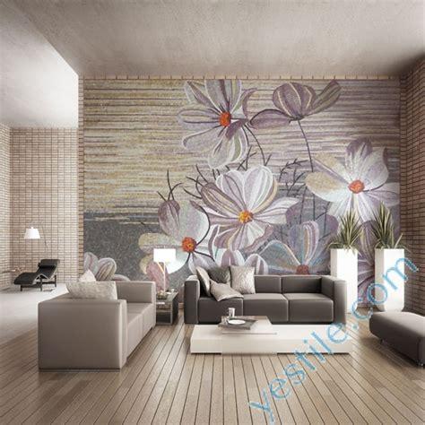 Mosaic Wall Murals glass mosaic wall murals flower design mosaic murals