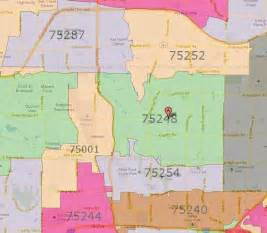 dallas zip code map images