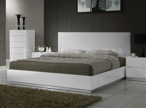 naples platform bed white 607 75 furniture store