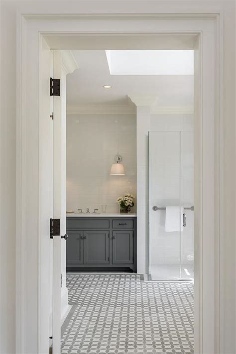 white bathroom floor white and gray bathroom floor tiles contemporary bathroom