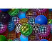 3D Neon Balls Wallpaper For Android 2560x1600