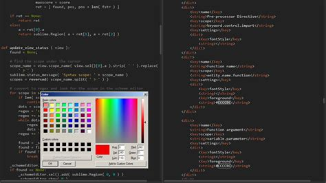Color Themes For Sublime Text 3 | github bobef colorschemeeditor quot real time quot color scheme