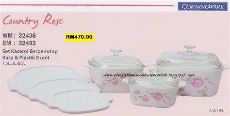 Diskon Lixin 24 Pcs Cutlery Set Motif Bunga Biru koleksi country kedai pinggan mangkuk