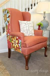 Wingback Chair Upholstery Ideas Remodelaholic Wingback Chair Reupholstering Tutorial