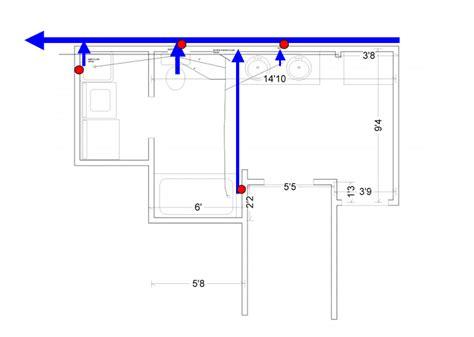 Plumbing Layouts by Basement Bathroom Layout
