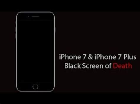 solutions iphone 7 7 plus won t turn on black screen blank screen dead