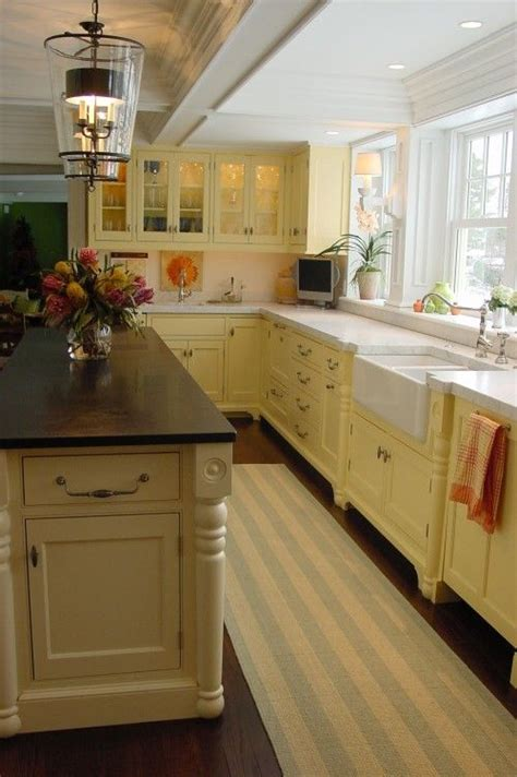 butter yellow cabinets home kitchen pantry dining
