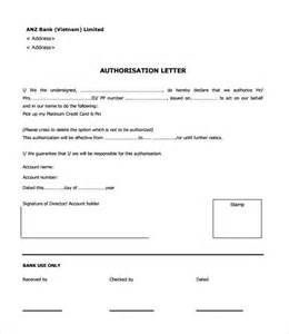 Authorization Letter Use Bank Statement sample bank authorization letter 9 free examples format