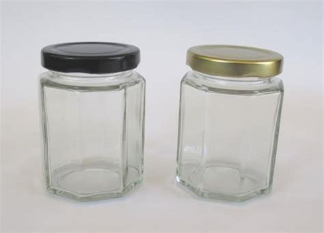 Large Hexagonal Glass Jars, 250ml Hexagonal Glass Sauce