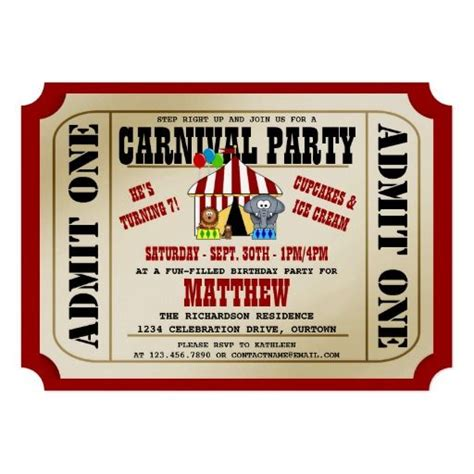carnival themed invitations 1000 images about carnival invitations on pinterest