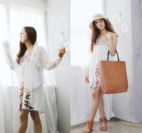 Becky Korean Bag becky baek ribbon hat stitchwork one brown