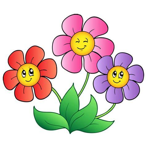 printable cartoon flowers flowers cartoon picture coloring kids