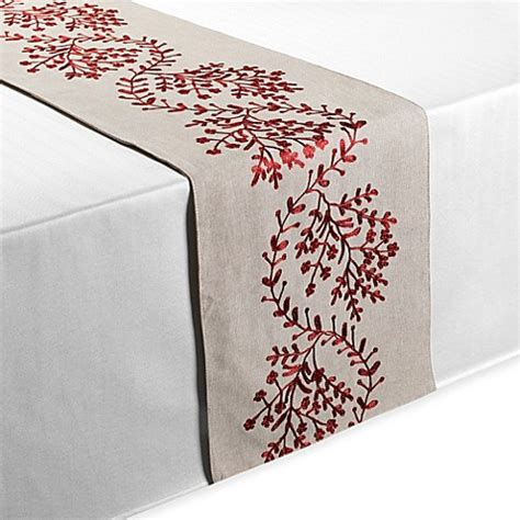 buy table runners linen from bed bath beyond