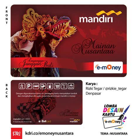 Emoney Mandiri Edisi Nusantara Etoll quot layangan janggan bali mainan nusantara quot nusantara kartu