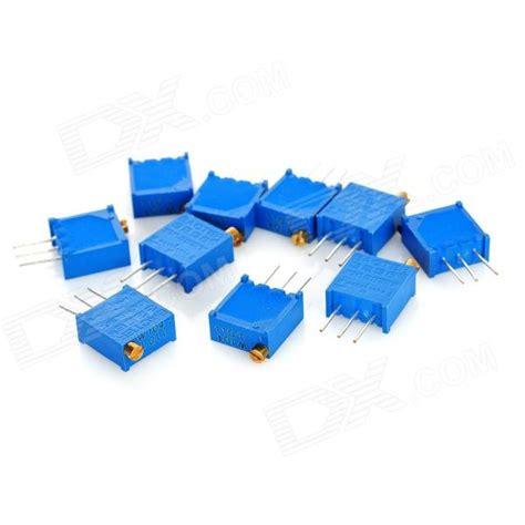 100k precision resistor 3296 high precision 104 100k ohm variable resistor potentiometer trimmers blue 10 pcs