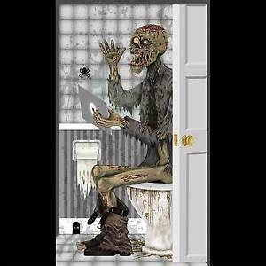Walking Dead Bathroom Set Toilet Bathroom Door Cover Wall Poster Walking Dead Prop Decoration Ebay