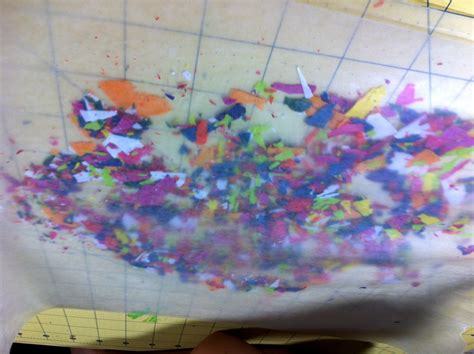wax paper crayon craft more crayon melting with the boys my crafty adventures