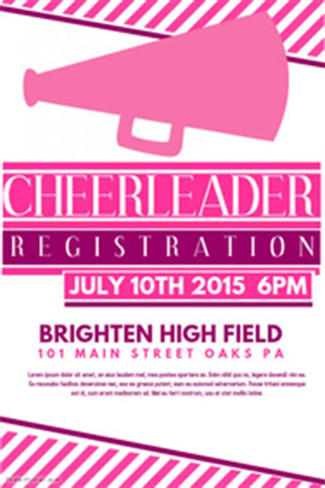 Customizable Design Templates For Cheerleader Postermywall Free Cheerleading Tryout Flyer Template