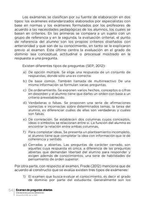 preguntas cerradas y abiertas de ciencias naturales examen de preguntas abiertas orientaci 243 n para su evaluaci 243 n