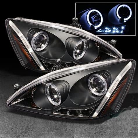 honda accord 2003 2007 black halo projector headlights