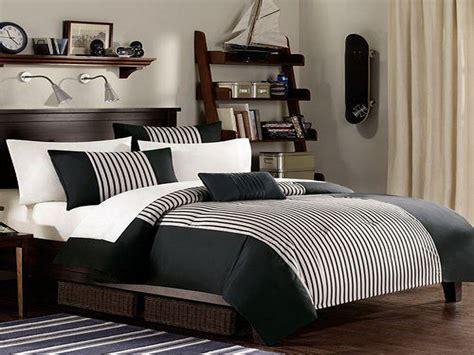 mens bedroom color schemes الاسود والابيض بغرف نوم الرجال المرسال