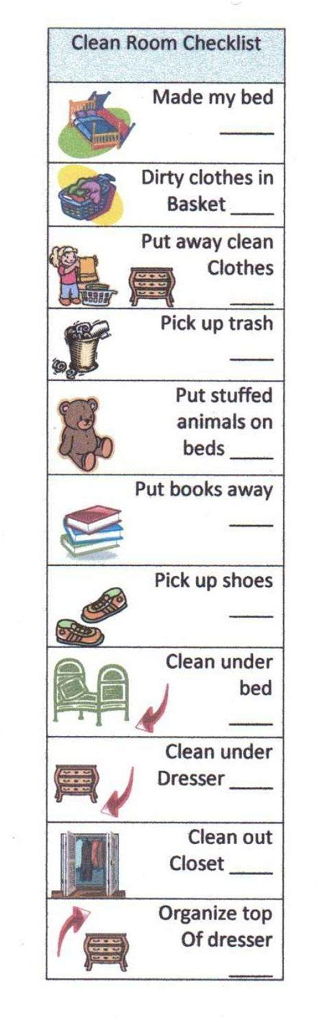 bedroom cleaning checklist help your child succeed with a clean room checklist