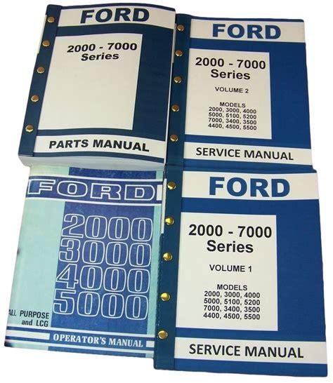 Lot Ford 3000 4000 Series Tractor Service Repair Operators