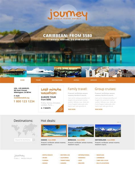 Travel Agency Website Template 41658 Travel Website Template