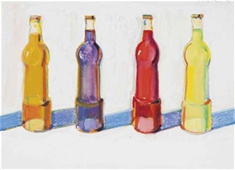 wayne thiebaud 4 sodas, 1969, watercolor and...