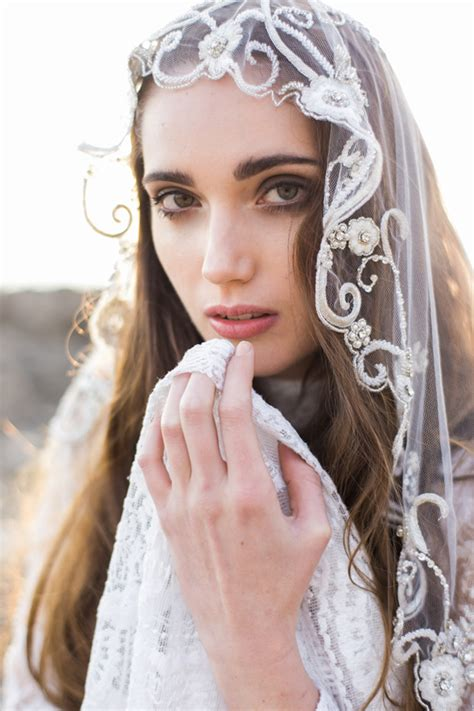 Bridal Veil by Embroidered Bridal Veil With Crystals Style 001 Bridal