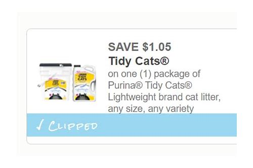 coupons tidy cat litter