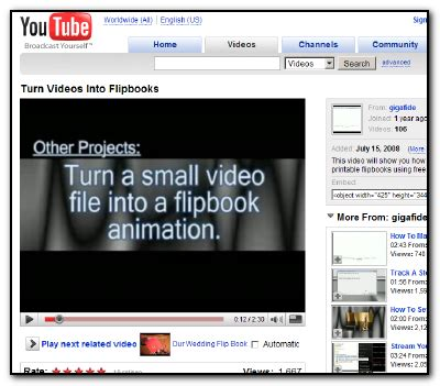 youtube tutorial how to nice youtube tutorial of how to use flipbook printer