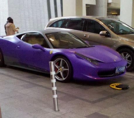 dark purple ferrari ferrari 458 italia is matte purple matte black in china