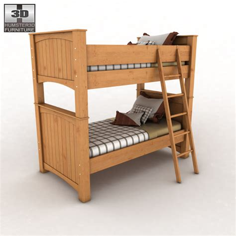Stages Loft Bed by Stages Bunk Bed 3d Model Humster3d