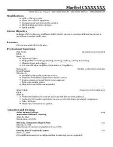 Home Health Aide Resume by Nursing Aide Resume Exles Bestsellerbookdb