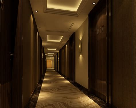 corridor lighting hotel corridor ceiling and greening design 3d house
